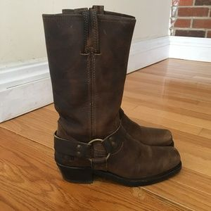 FRYE Harness Ankle BOOTS Motorcycle VINTAGE